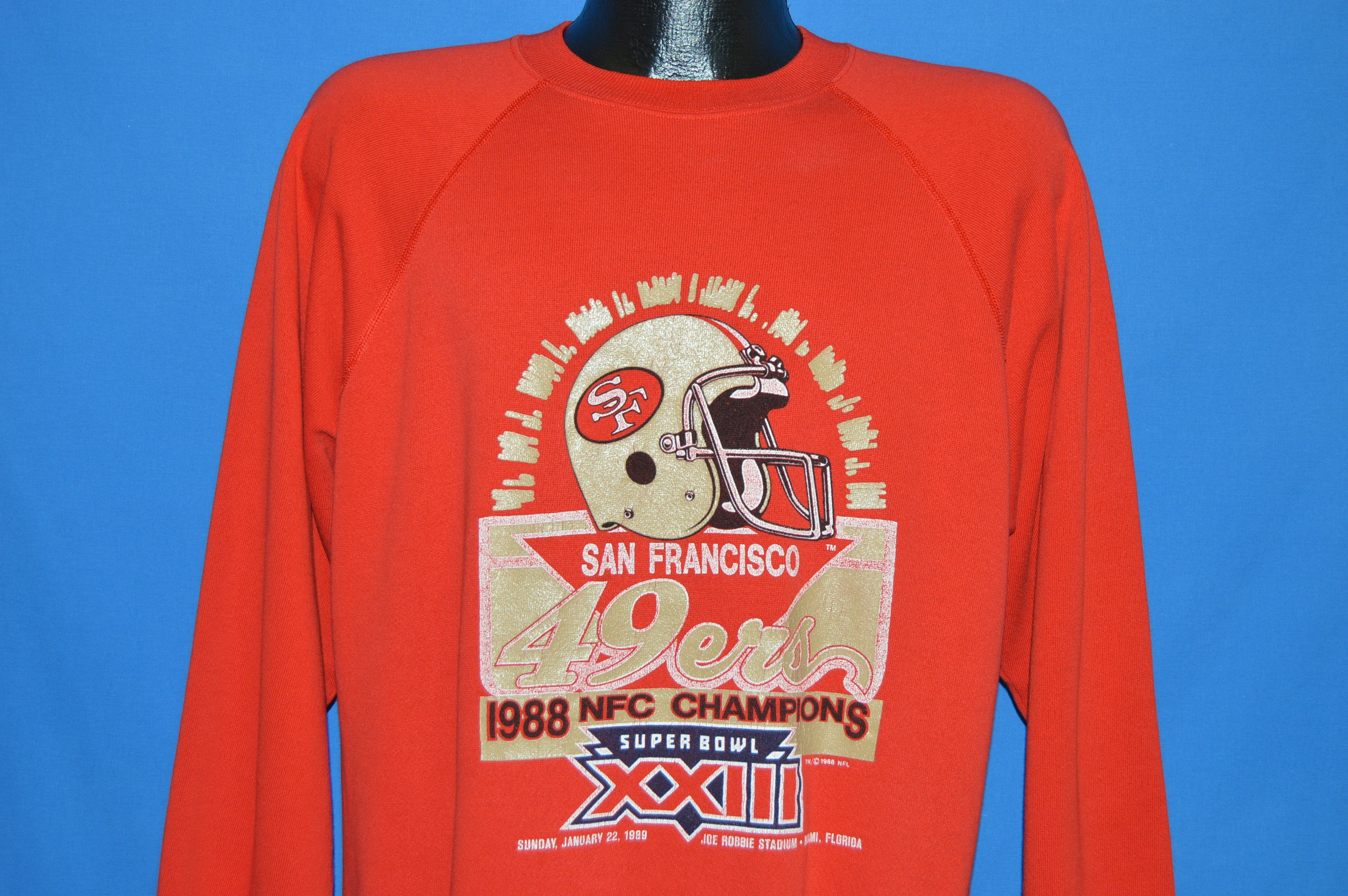 80s San Francisco 49ers Superbowl XXIII Champs Sweatshirt Large ... 777c96fe9