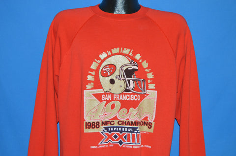 80s San Francisco 49ers Superbowl XXIII Champs Sweatshirt Large
