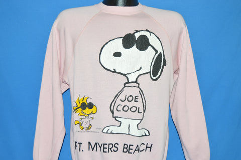 80s Snoopy Joe Cool Fort Meyers Beach Sweatshirt Medium