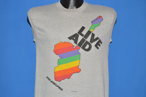80s Live Aid 1985 Philly London Sleeveless t-shirt Small