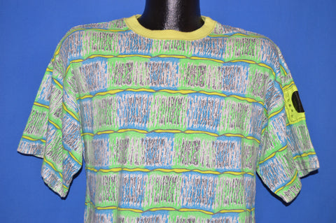 90s Morey Boogie Board Neon Print t-shirt Large