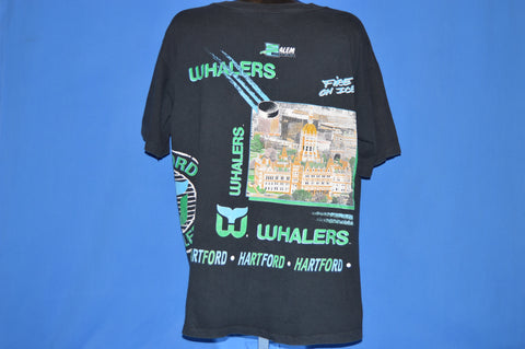 90s Hartford Whalers Fire On Ice NHL t-shirt Extra Large
