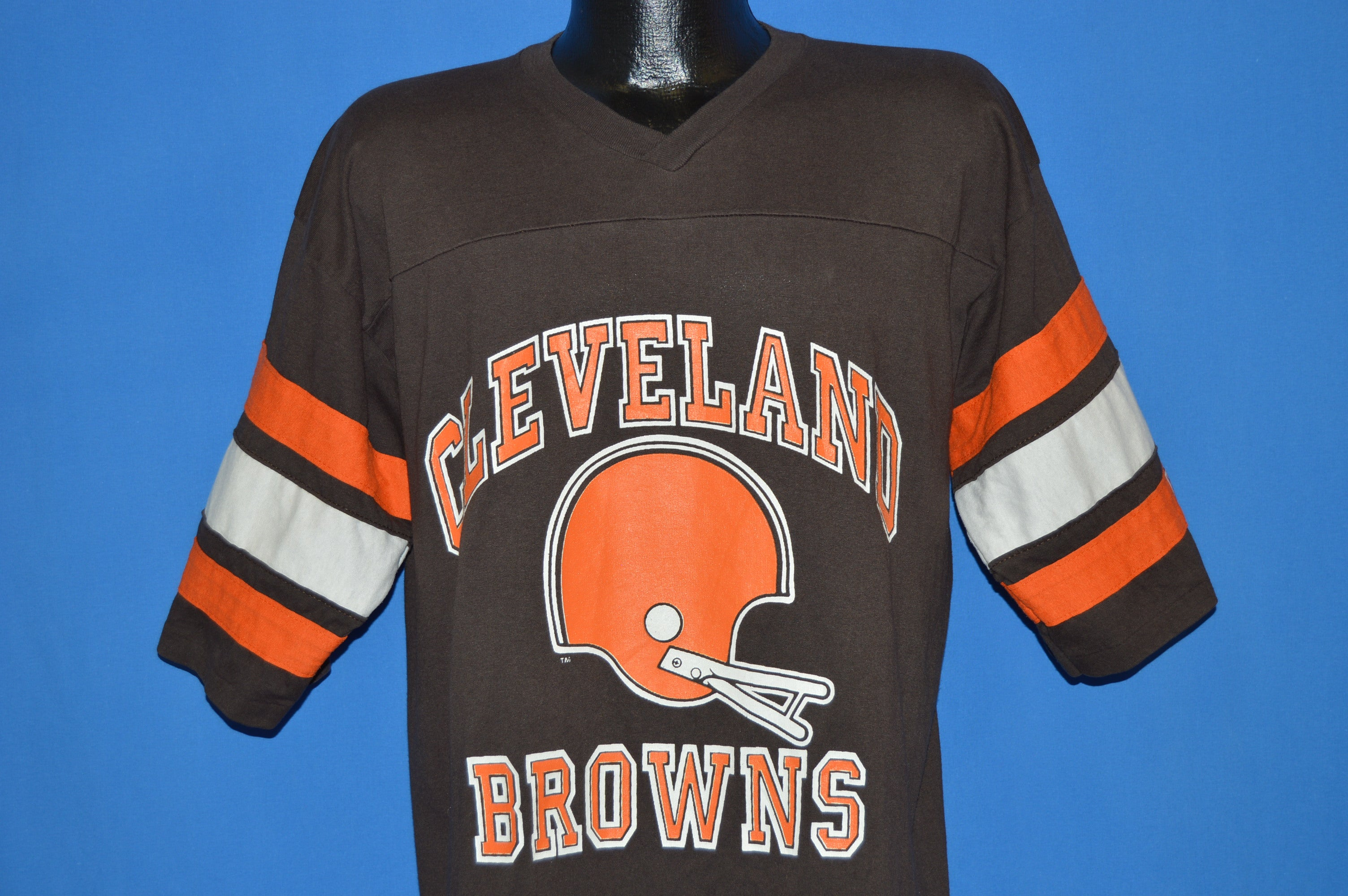 80s Cleveland Browns Jersey style t shirt Extra Large The Captains  for cheap