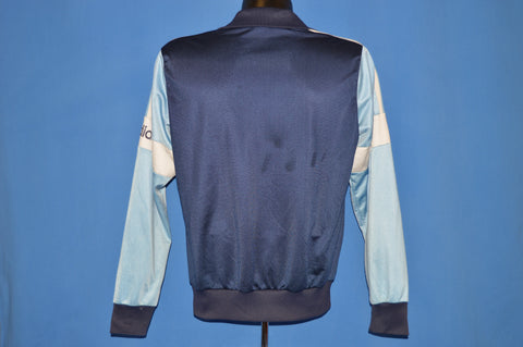 80s Adidas Trefoil Blue Track Jacket Small