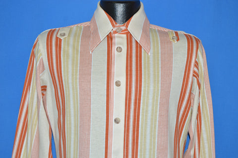 70s Sears Jeans Joint Striped Button Down shirt Small