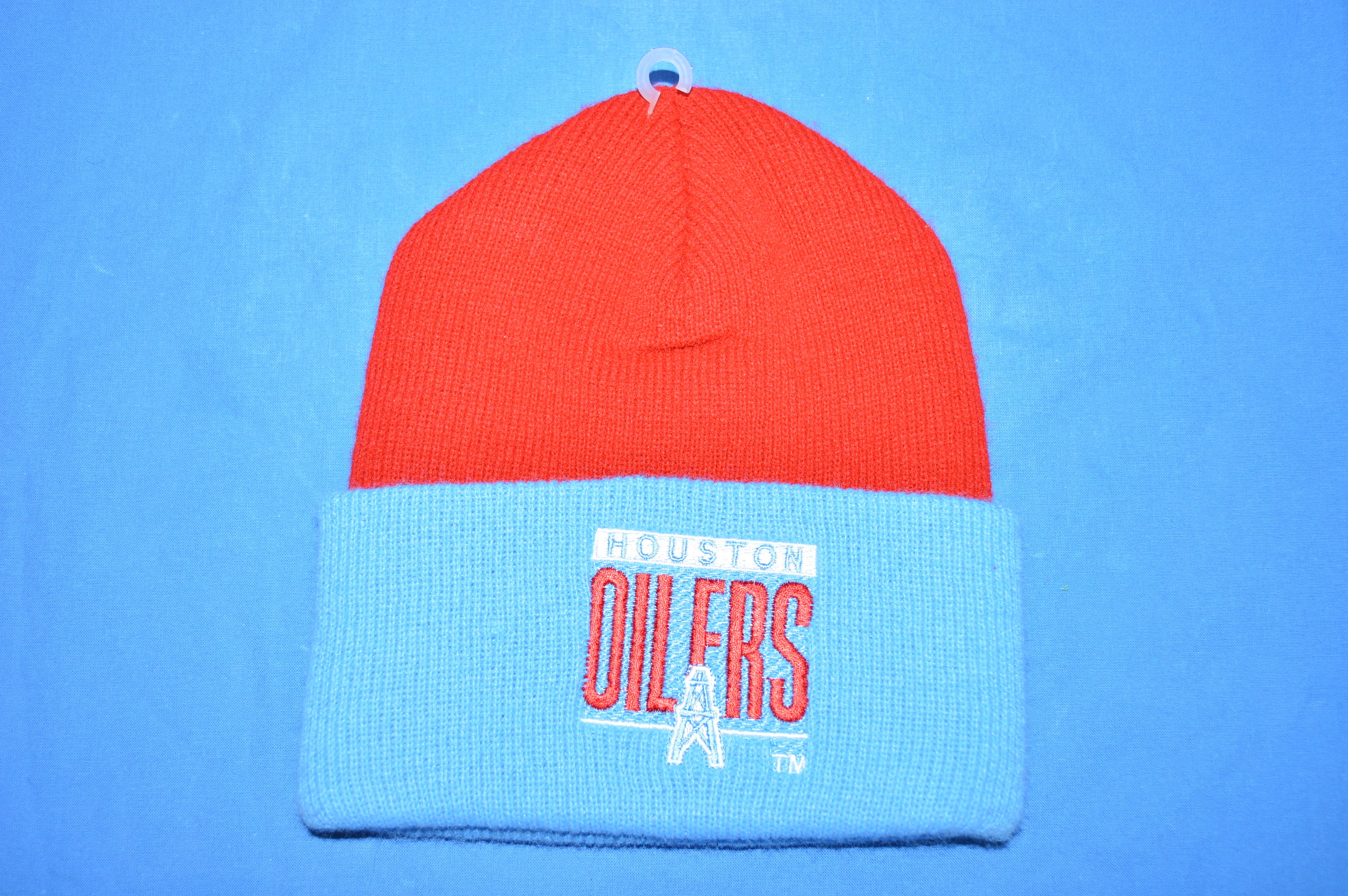 80s Huston Oilers NFL Football Winter Ski Hat - The Captains Vintage 65234ac4664