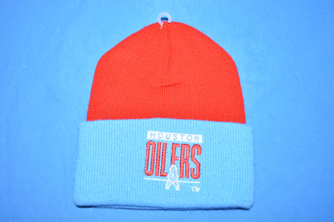 80s Huston Oilers NFL Football Winter Ski Hat