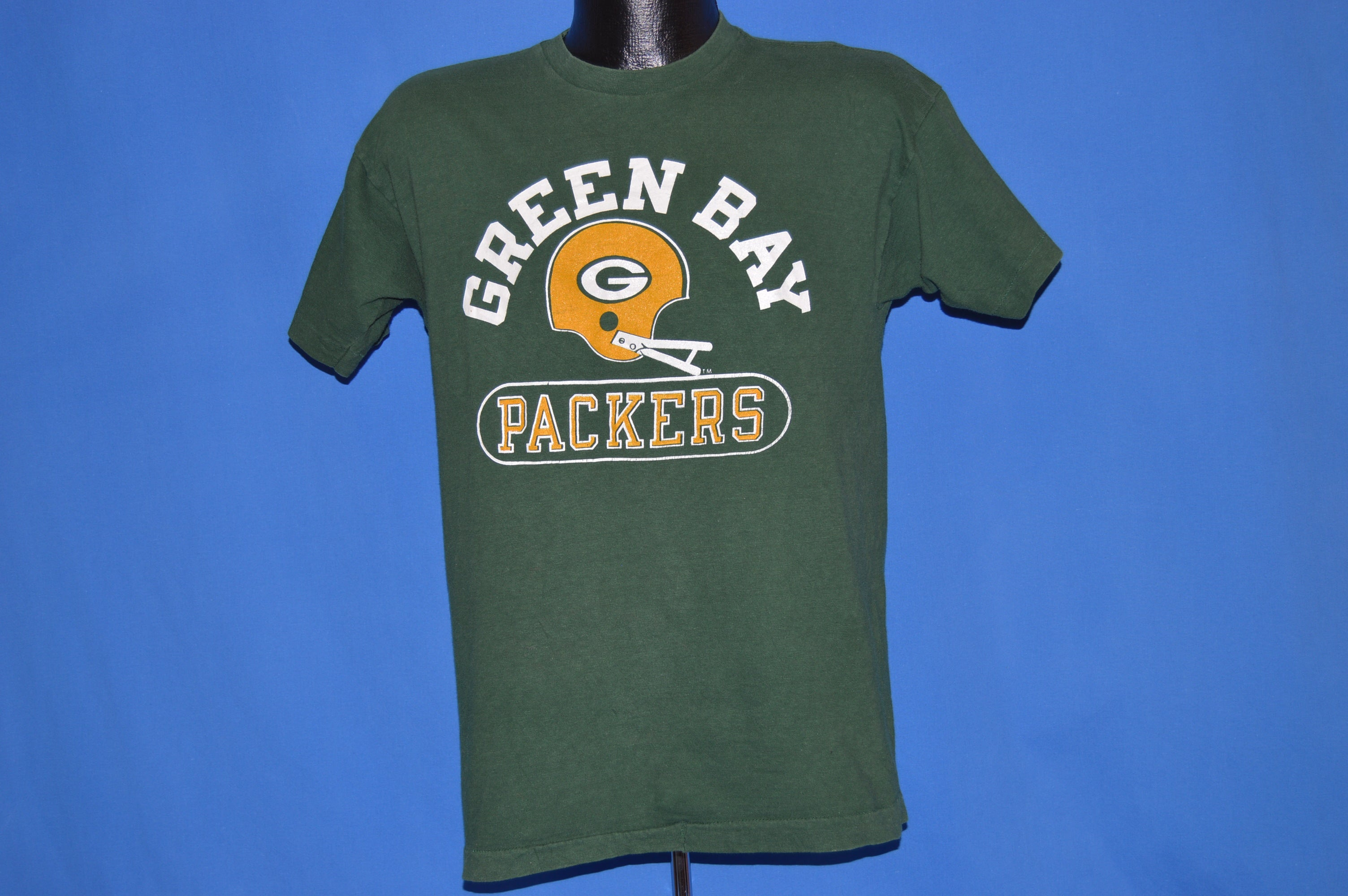 check out 92426 33ac5 70s Green Bay Packers Football Helmet t-shirt Medium - The ...