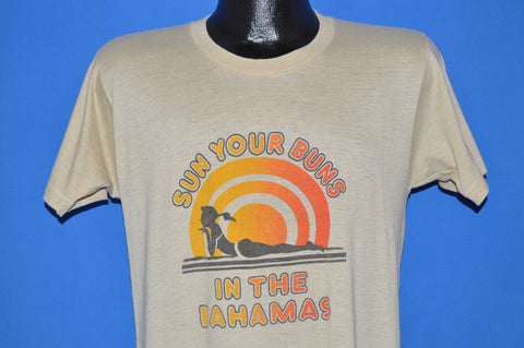 70s Sun Your Buns In The Bahamas Vacation t-shirt Medium
