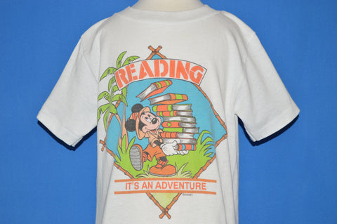 80s Reading It's An Adventure Mickey t-shirt Youth Medium
