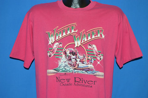80s White Water Rafting New River t-shirt Large