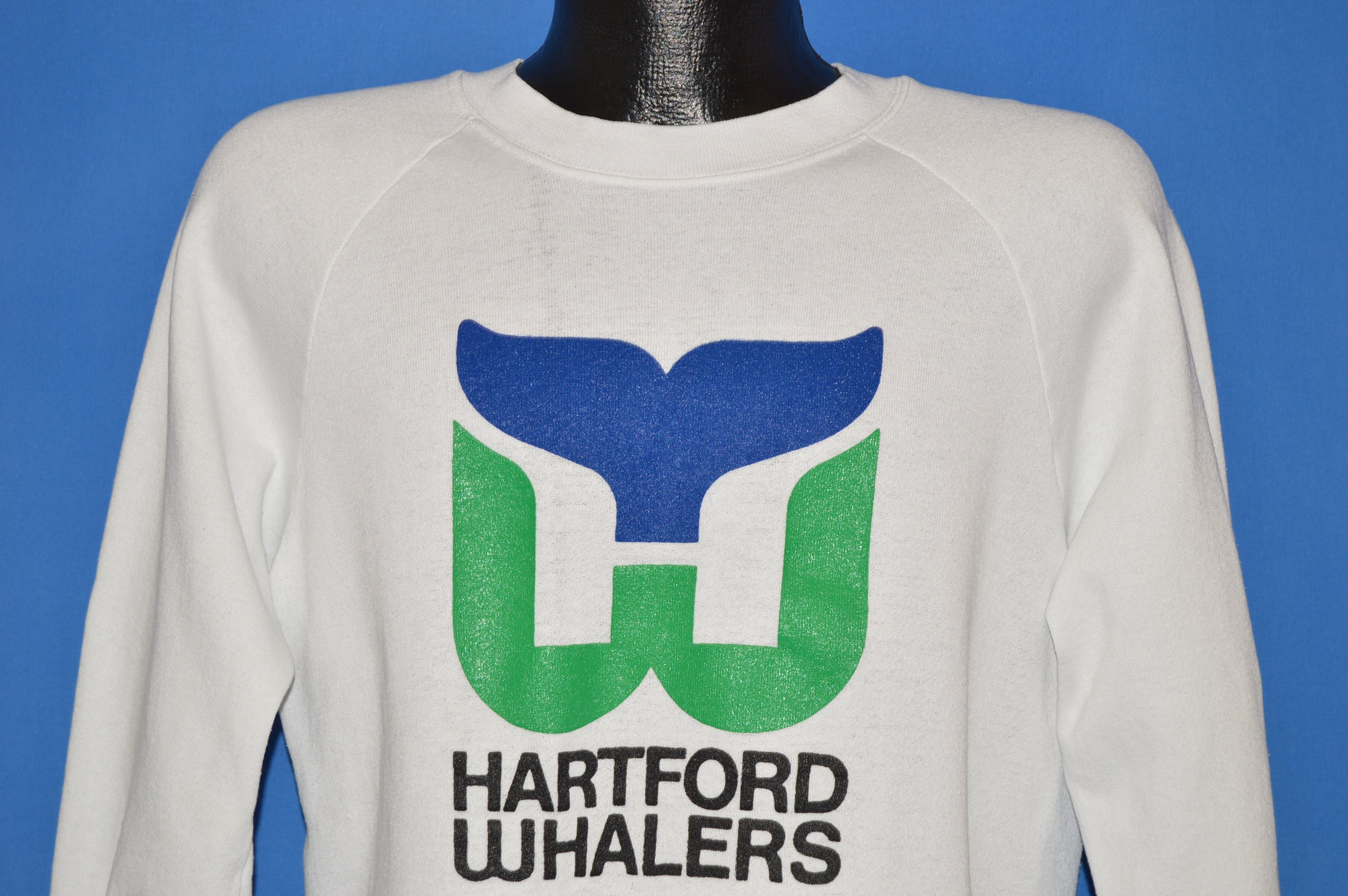 80s Hartford Whalers NHL Logo Sweatshirt Large - The Captains Vintage a77c67844