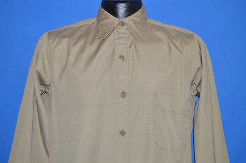 50s Khaki Military Workwear Shirt Small