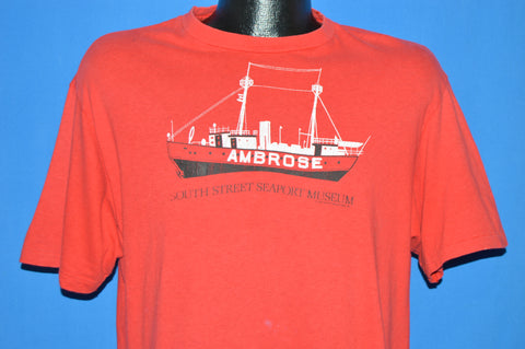 80s USS Ambrose South Street Museum t-shirt Large