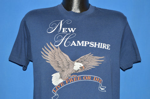 80s New Hampshire Live Free Or Die Eagle t-shirt Large