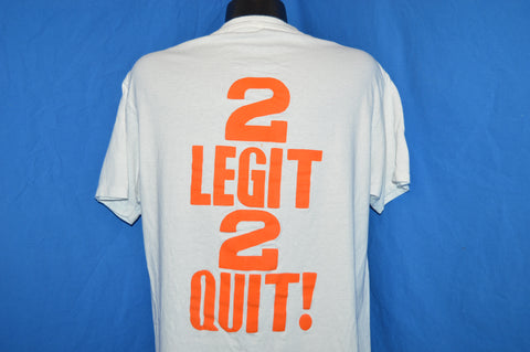 80s Florida A&M Rattlers 2 Legit 2 Quit t-shirt Large