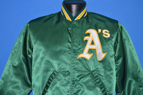 80s Oakland Athletics Satin Starter Jacket Small