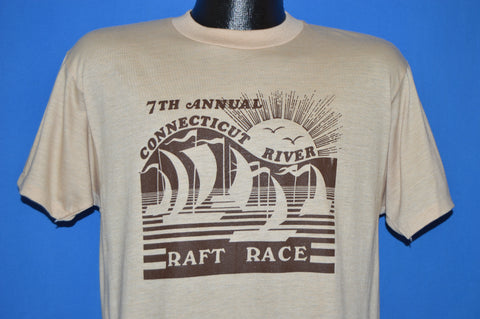 80s 7th Annual Connecticut River Raft Race t-shirt Large