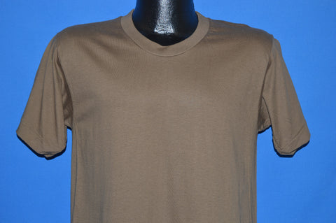 90s Fruit Of The Loom Brown Blank t-shirt Medium