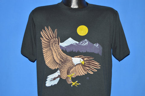 80s Flying Eagle Full Moon Wilderness t-shirt Large