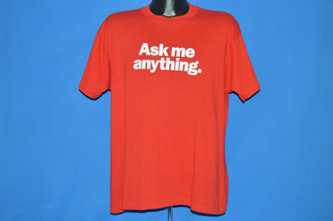 80s Ask Me Anything Popular Mechanics t-shirt Large