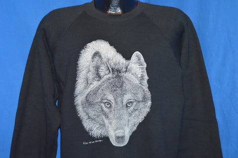 80s White Wolf Sweatshirt Extra Large