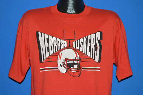 80s Nebraska Corn Huskers Football t-shirt Large