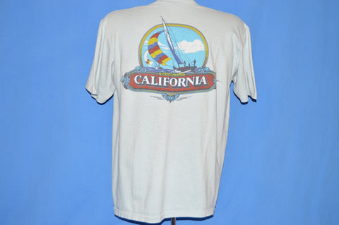 80s California Golden Coast Sailboat t-shirt Large