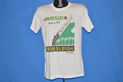 80s Jamaica Bob Sleigh 1988 Bobsled Team t-shirt Medium