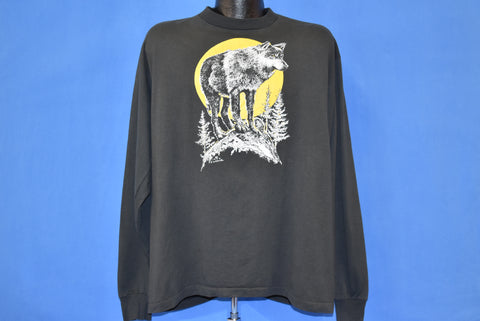 90s Wolf Full Moon Long Sleeve t-shirt Extra Large