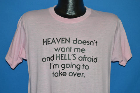80s Heaven Doesn't Want Me Mom t-shirt Medium