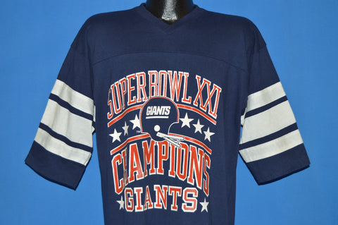 80s New York Giants Super Bowl XXI Champions Jersey t-shirt Extra Large