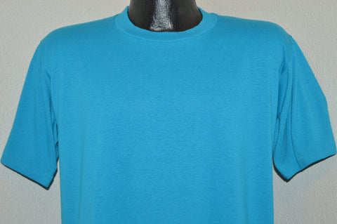 80s Blue Turquoise Jerzees Blank t-shirt Large