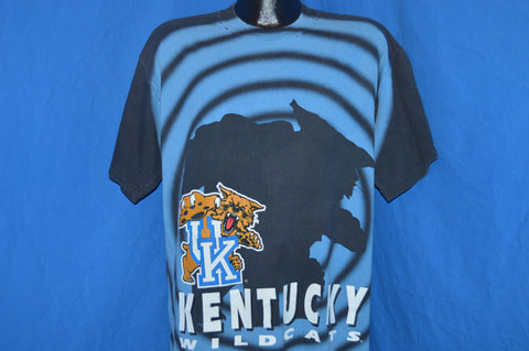 90s Kentucky Wildcats All Over Print t-shirt Extra Large