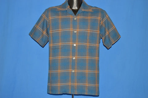 50s Sportsman Plaid Square Bottom Men's shirt Medium