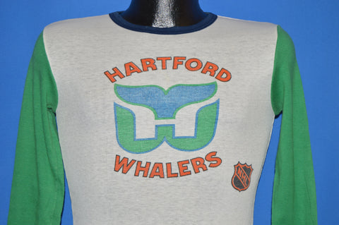 80s Hartford Whalers NHL Long Sleeve t-shirt Extra Small