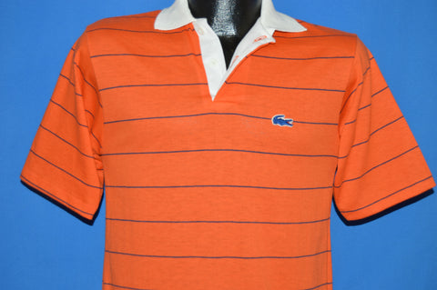 80s Chemise Lacoste Striped Polo t-shirt Youth Large
