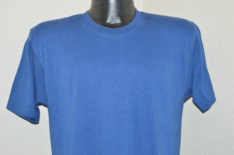 80s Blue Jockey Suprel Blank t-shirt Medium