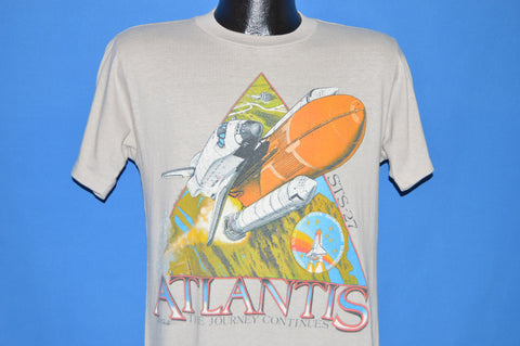 80s Atlantis STS-27 The Journey Continues t-shirt Medium