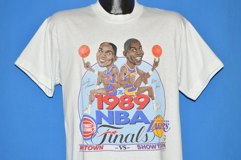 80s Pistons Lakers NBA 1989 Finals t-shirt large