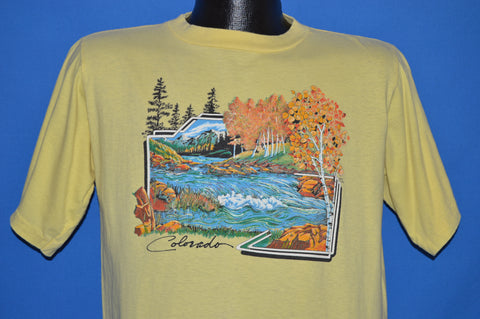 80s Colorado Autumn Mountains t-shirt Large