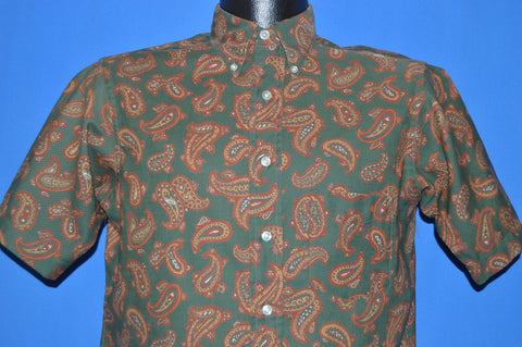 60s Paisley Short Sleeve Men's shirt Medium