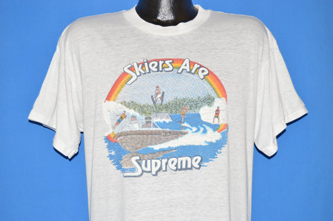 80s Skiers Are Supreme Water Skiing t-shirt Large
