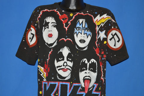 90s Kiss All Over Print Rock Express t-shirt Extra Large