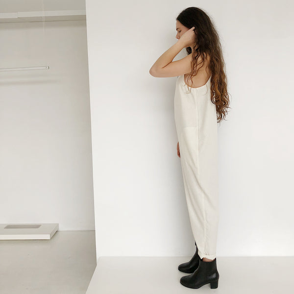 Laurs Kemp Colorblock Raw Silk Ulli Jumpsuit