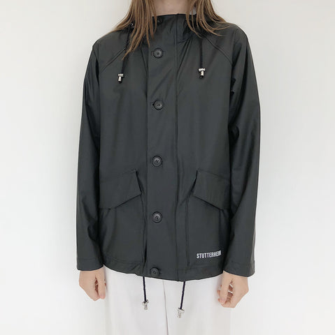 Stutterheim Black Stenhamra Short Raincoat
