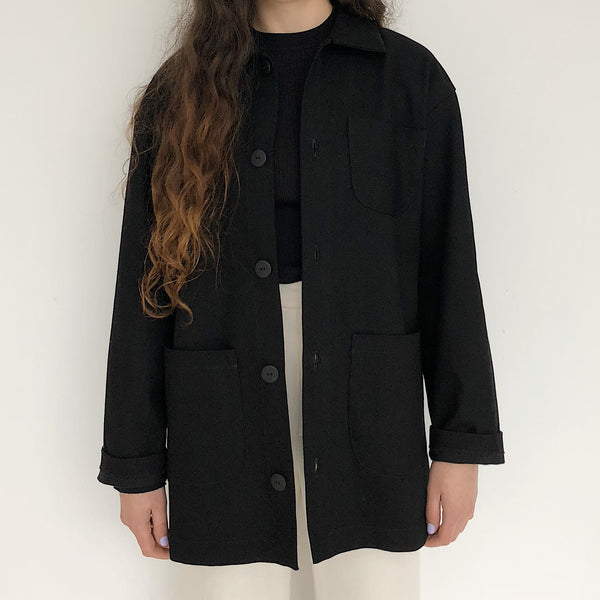 Laurs Kemp Black Workwear Jacket - Johan Exclusive