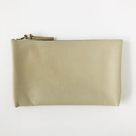 ARA Handbags Beige Long Zip Clutch