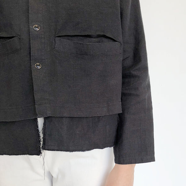 The General Public Black Welt Pocket Shirt Jacket