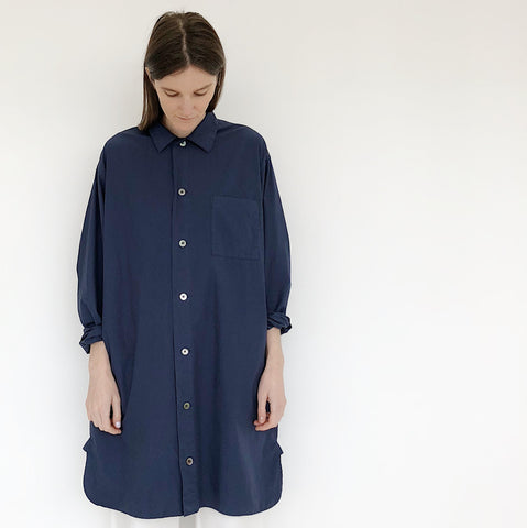 Johan - Tanaka Navy Long Button Down Shirt - Portland, Oregon